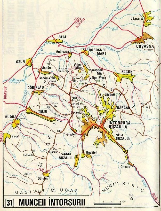 Harta Muntii Buzaului Asociatia De Turism Montan Cocosul De