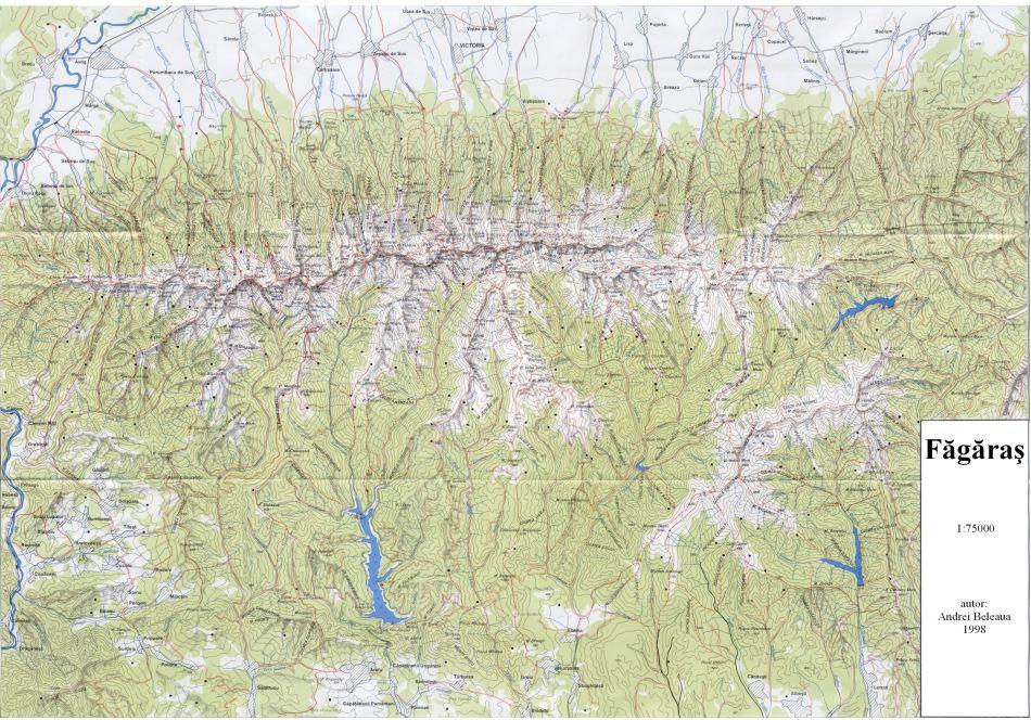 Harta Muntii Fagaras Asociatia De Turism Montan Cocosul De