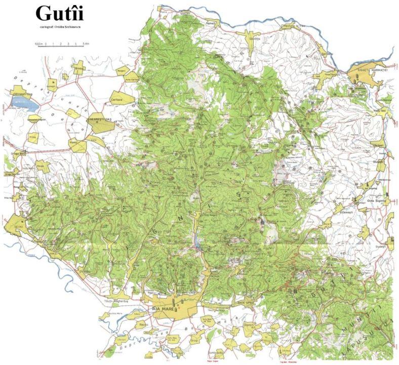 HARTA MUNTII OAS - GUTAI