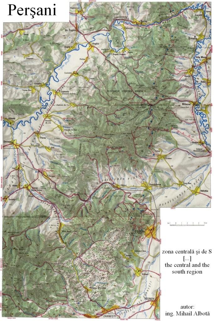 Harta Muntii Persani Codlei Asociatia De Turism Montan